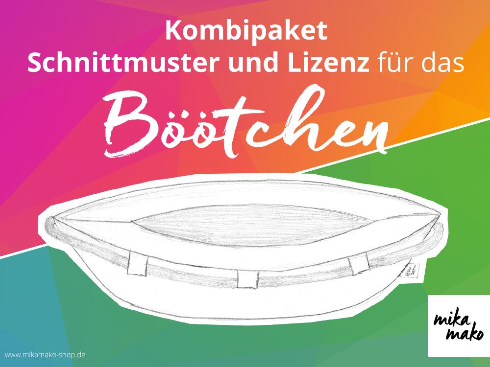 Böötchen - Schnittmuster und Lizenz - www.mikamako-shop.de